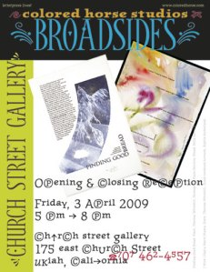Colored Horse Studios Broadsides Exhibit