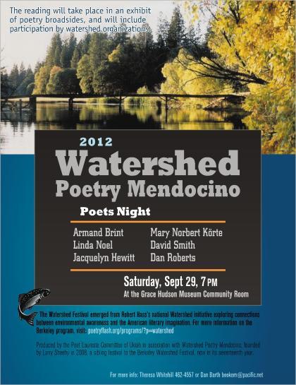 Watershed Poetry Mendocino 2012: Poets Night