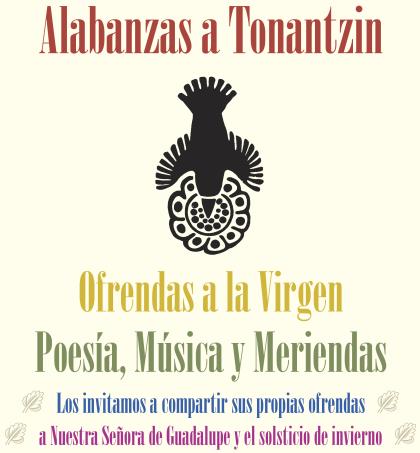 Nuestra Senora de Guadalupe poesia y meriendas